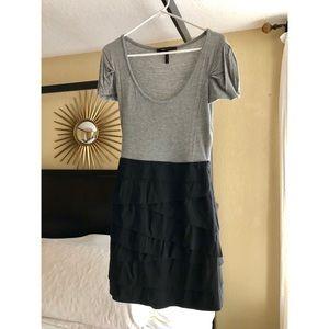 Gray and black dress